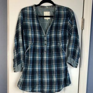 Gilly Hicks Plaid Tunic with Tie in Back